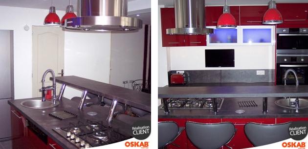 ilot de cuisine son emplacement central ou semi lot. Black Bedroom Furniture Sets. Home Design Ideas